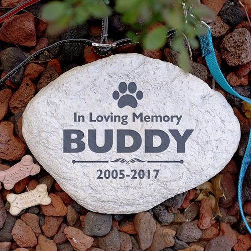 Personalized Engraved Pet Memorial Garden Stone