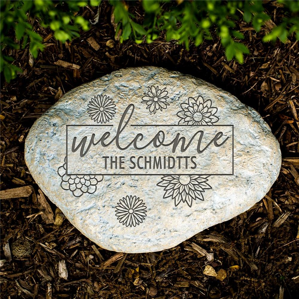 Personalized Engraved Welcome Garden Stone