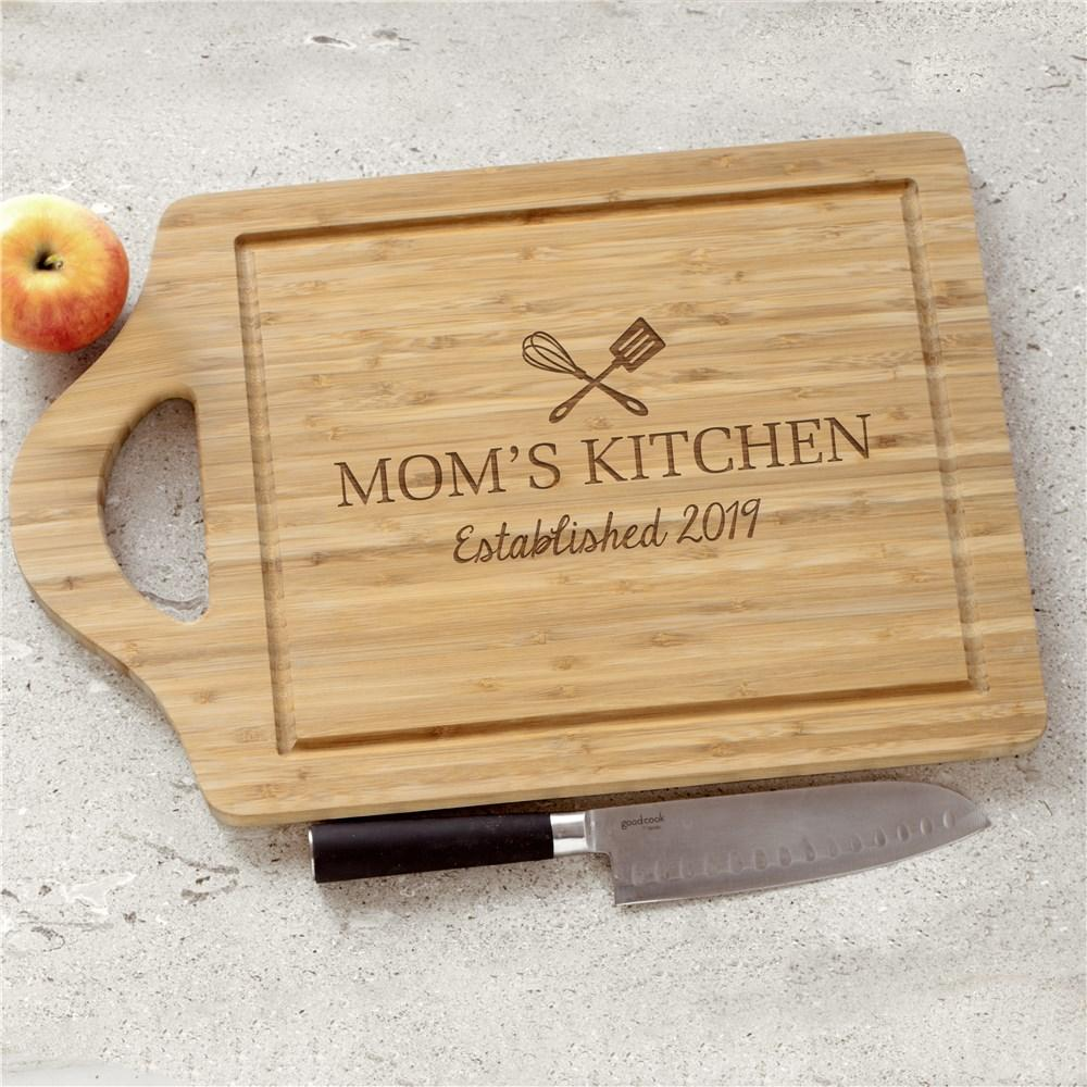 Personalized Engraved Moms Kitchen Cutting Board