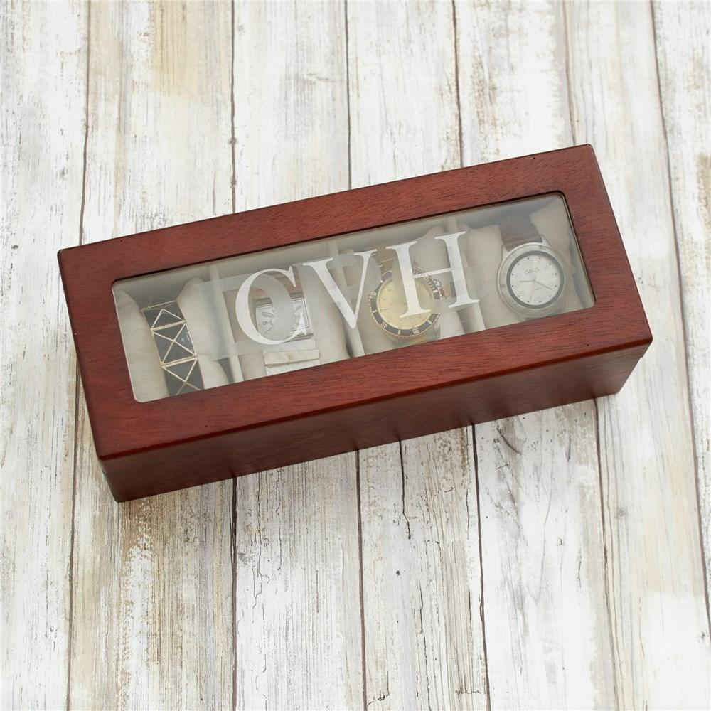 Personalized Initial Watch Box
