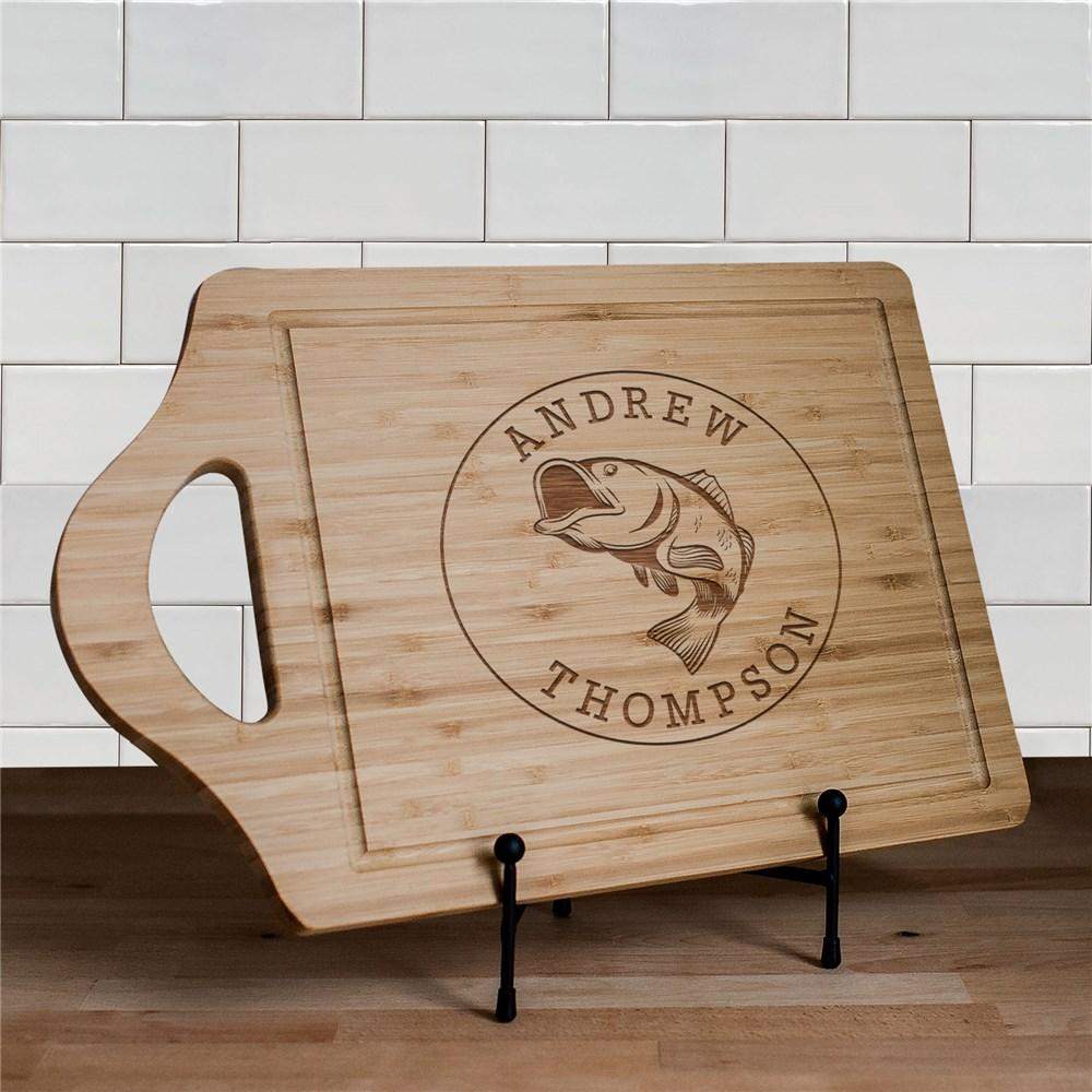 Personalized Engraved Fish Cutting Board