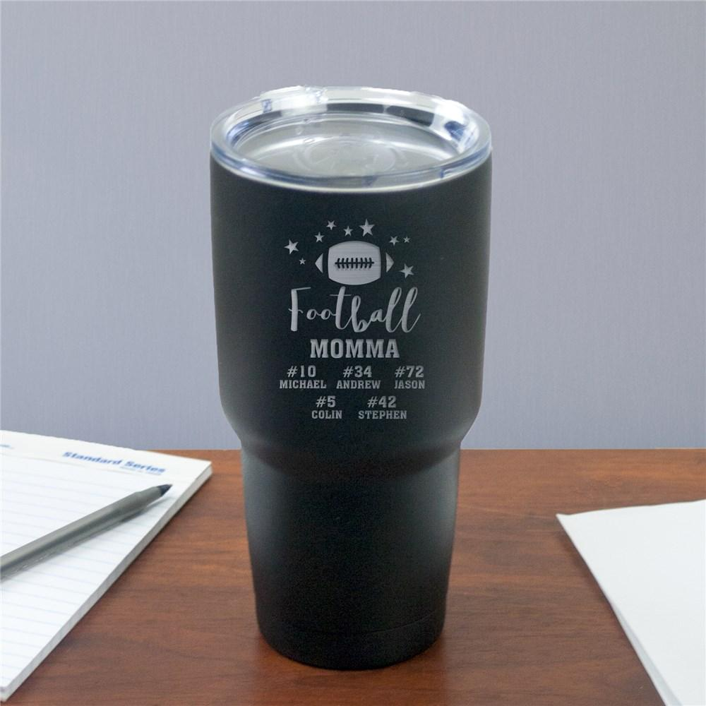 Personalized Football Momma Insulated Tumbler