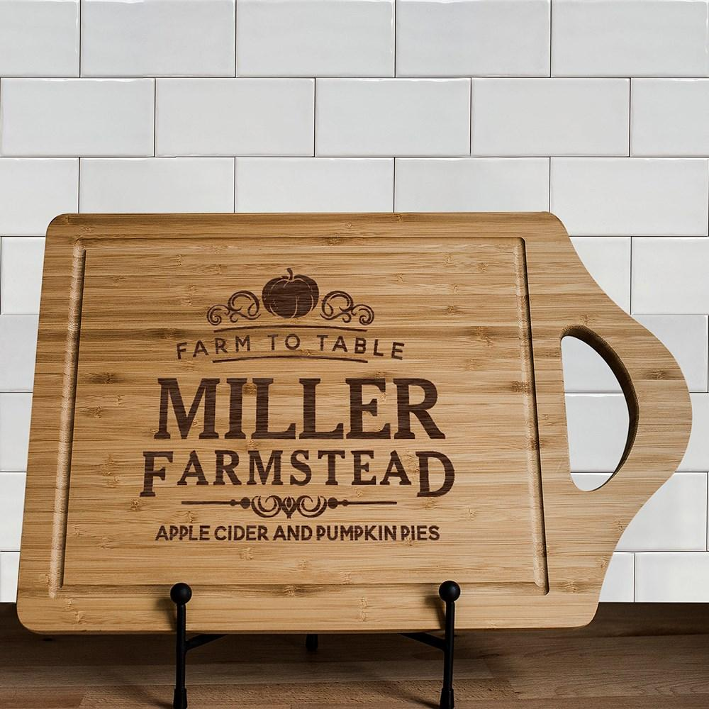 Personalized Engraved Farmstead Cutting Board