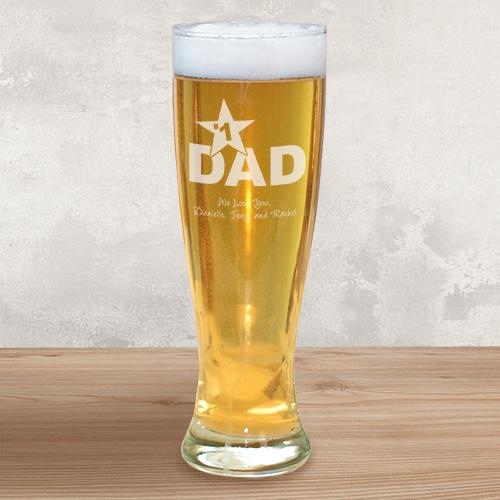 Personalized  Glass Pilsner for Dad