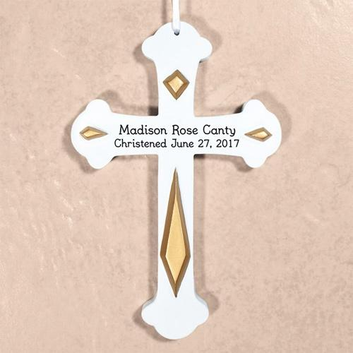 Personalized Engraved Christened Wall Cross
