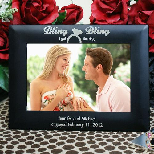Personalized Engraved Engagement Frame