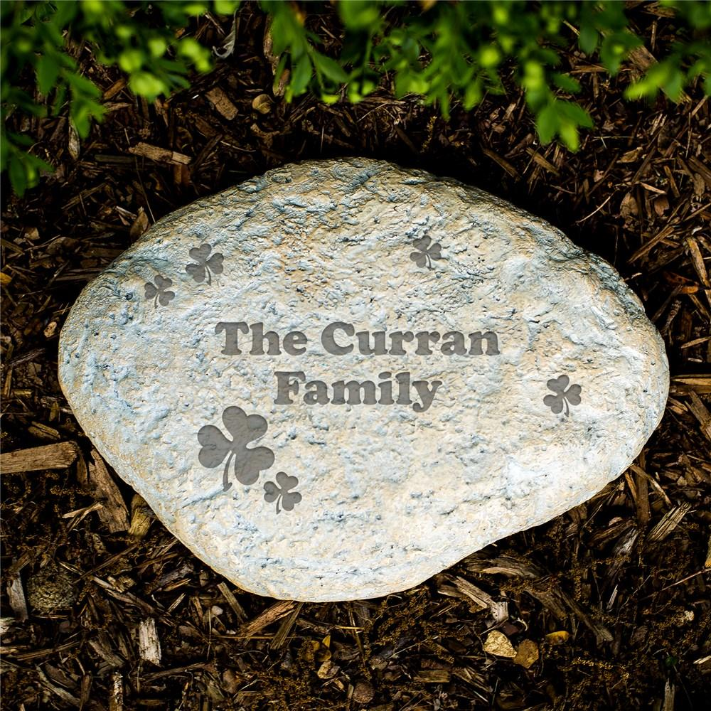Personalized Engraved Irish Family Garden Stone