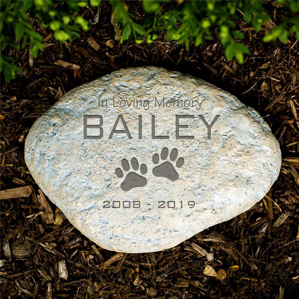 Personalized Pet Sympathy Garden Stone