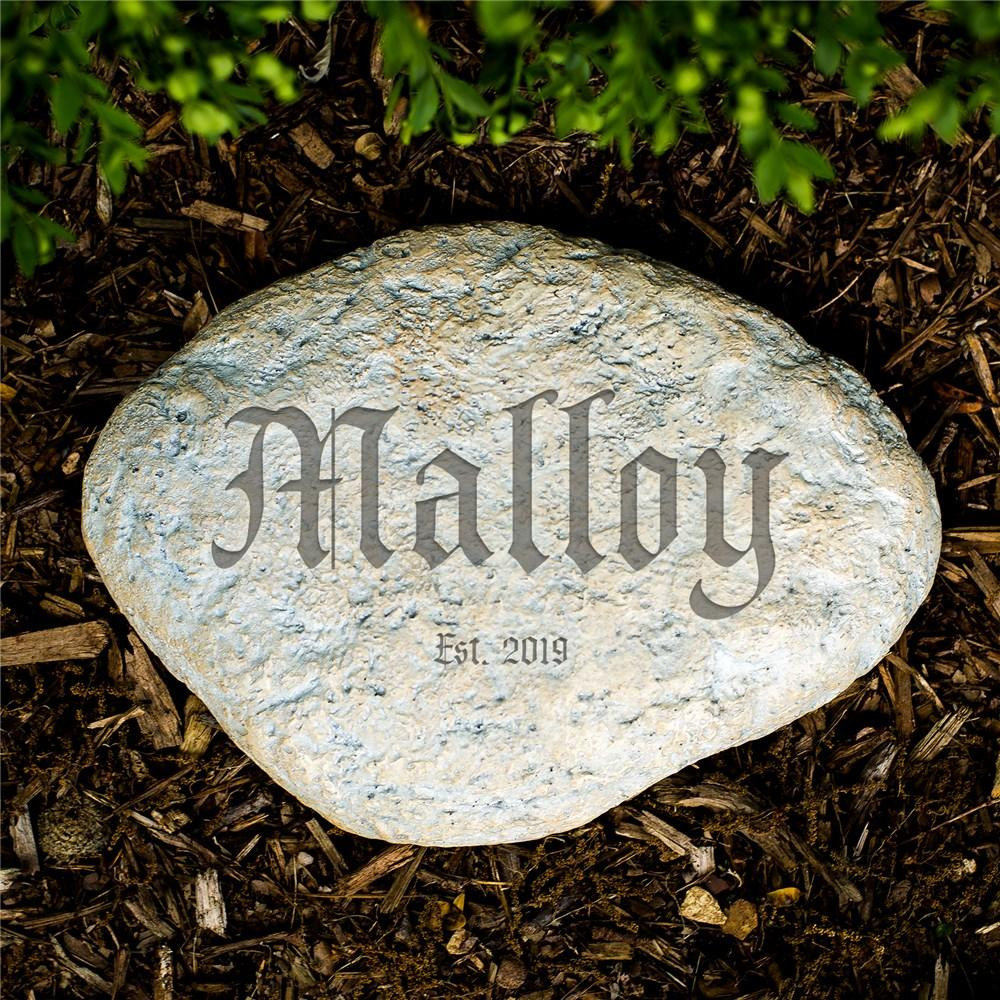 Personalized Engraved Family Established Garden Stone