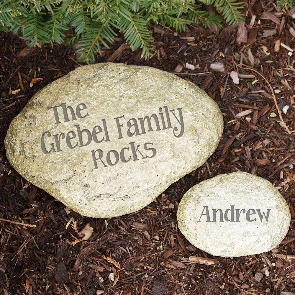 Personalized Family Rocks Engraved Yard Stones