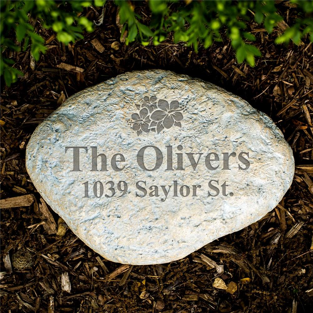 Personalized Family Address Engraved Garden Stone