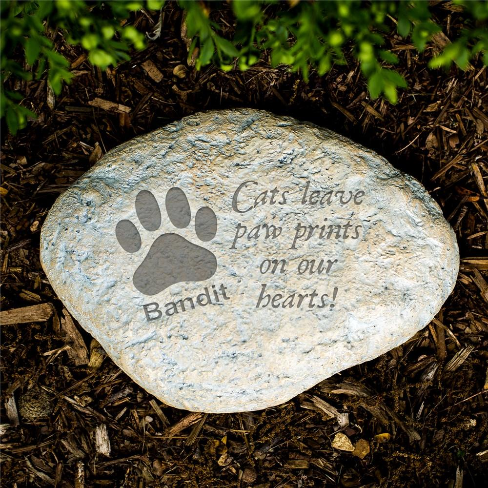 Personalized Engraved Cat Memorial Garden Stone