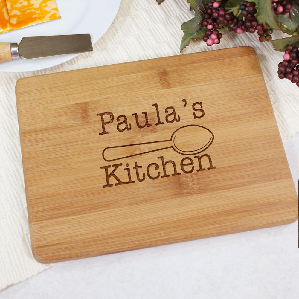 Personalized Engraved Kitchen Bamboo Cheese Board