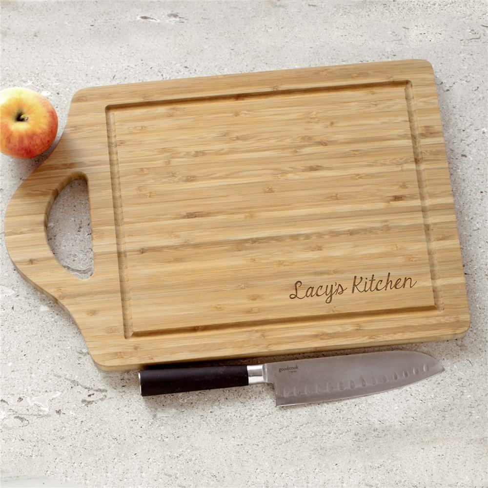 Personalized Engraved Family Name Bamboo Carving Board