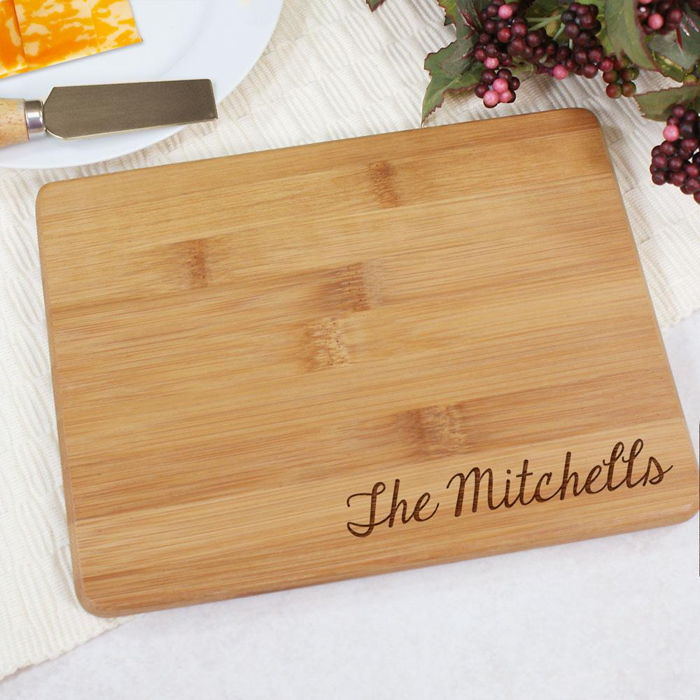 Personalized Engraved Bamboo Cheese Board