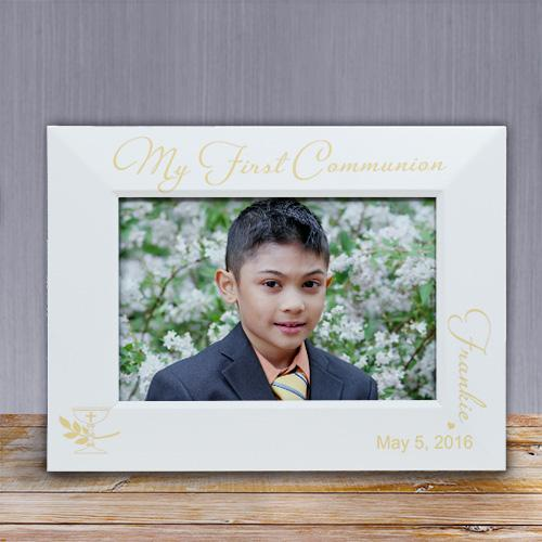 Personalized Communion White Frame