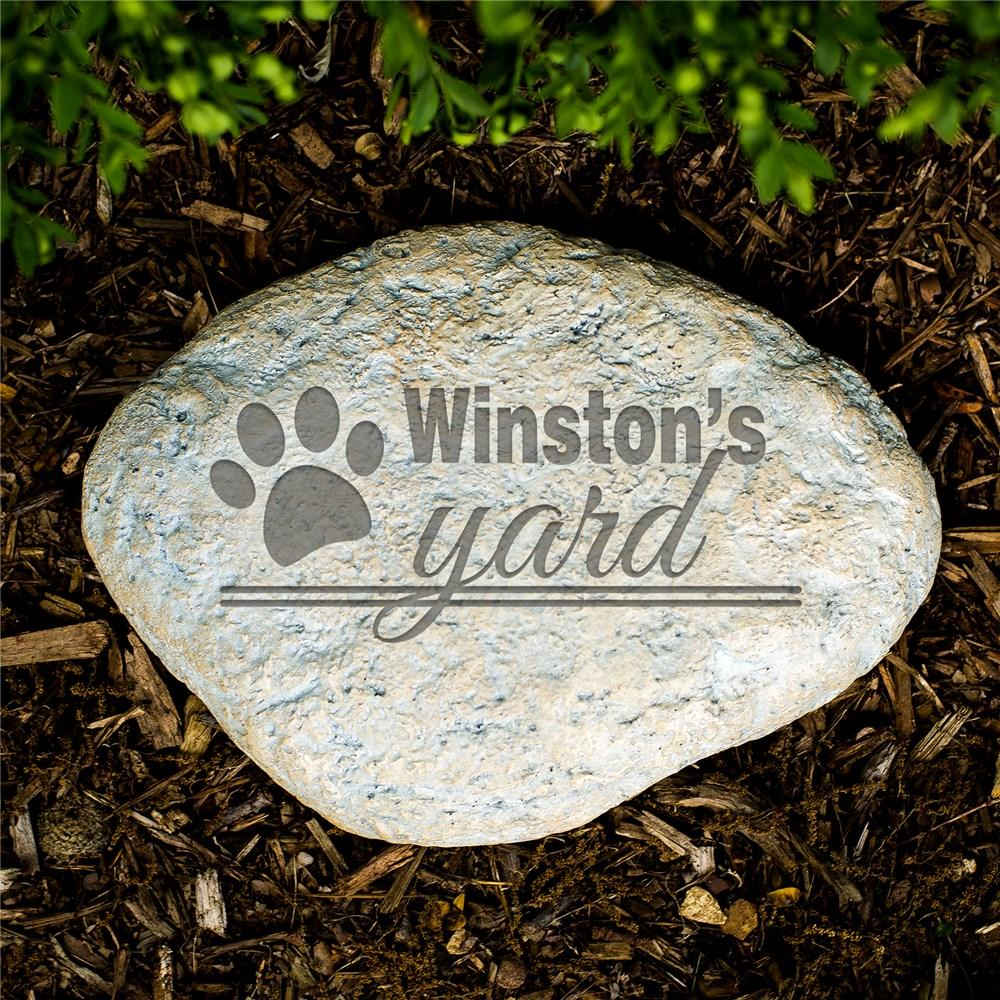 Personalized Engraved Dog's Yard Garden Stone