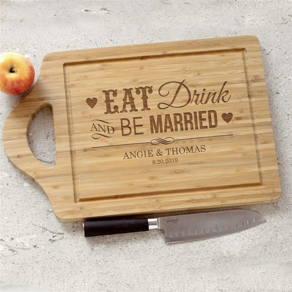 Personalized Engraved Be Married Chef Carving Board