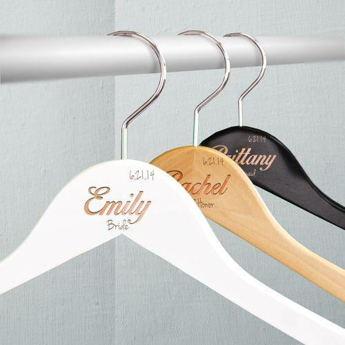 Personalized Wedding Party Hangers