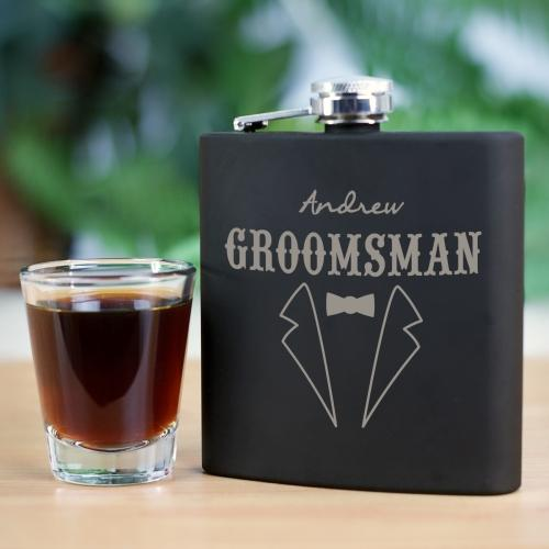 Personalized Engraved Groomsmen Flask