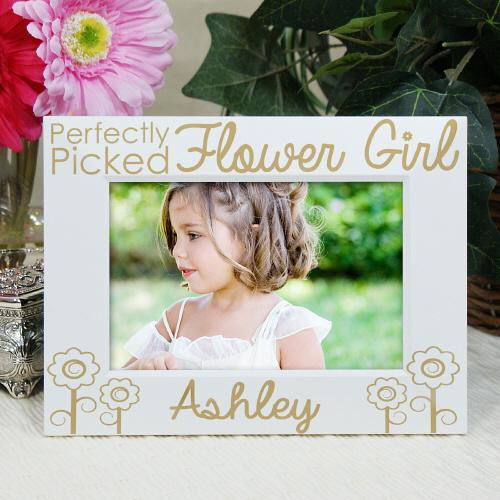Personalized Engraved Flower Girl Picture Frame