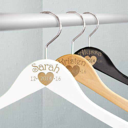 Personalized Engraved Wedding Party Hangers