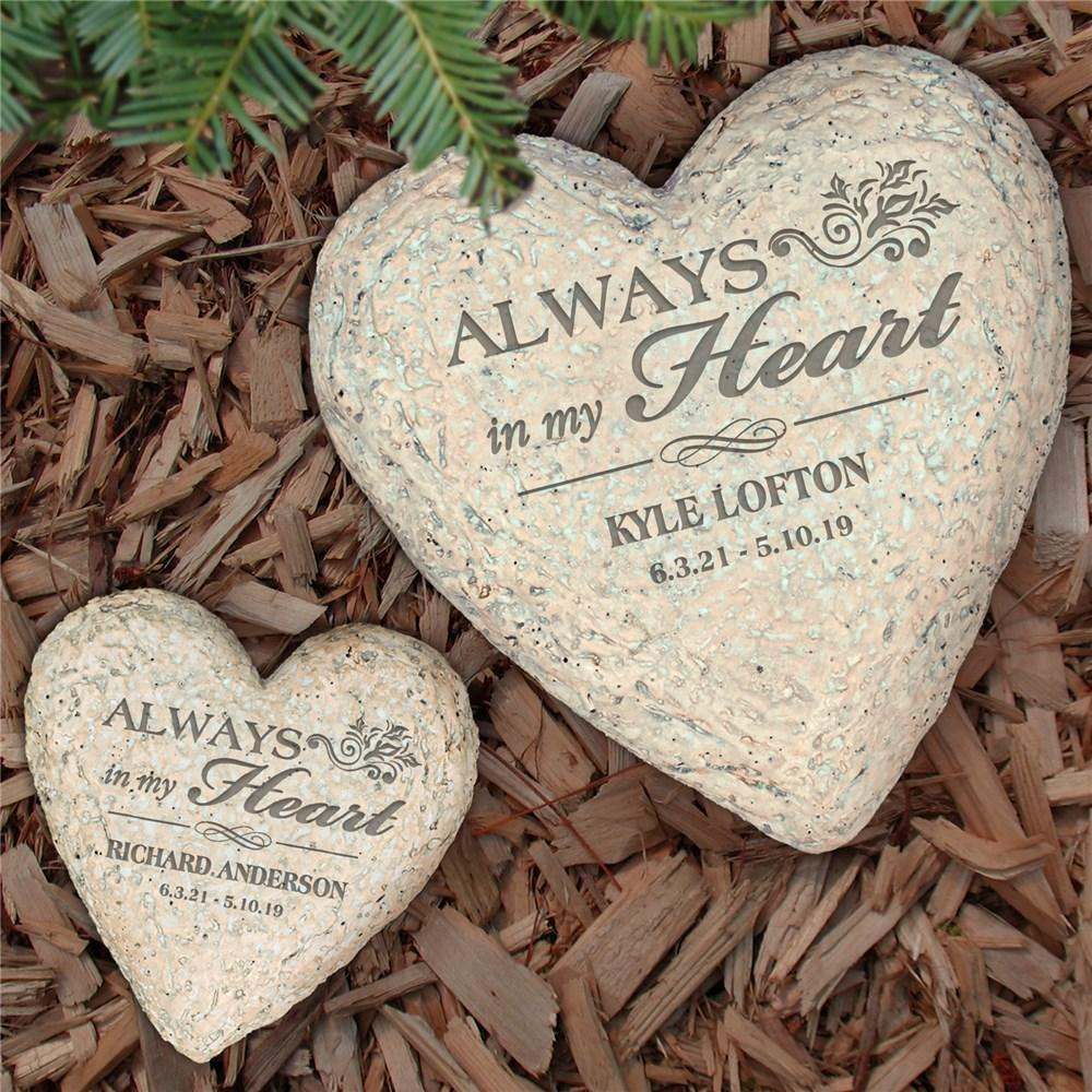 Personalized Sympathy Heart Stone