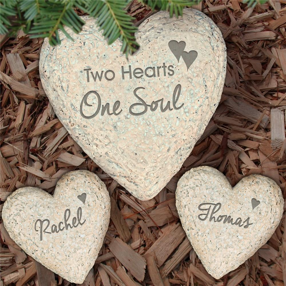 Personalized Set In Stone Heart Set