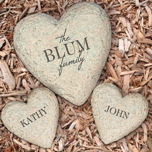 Personalized Engraved Heart Garden Stone