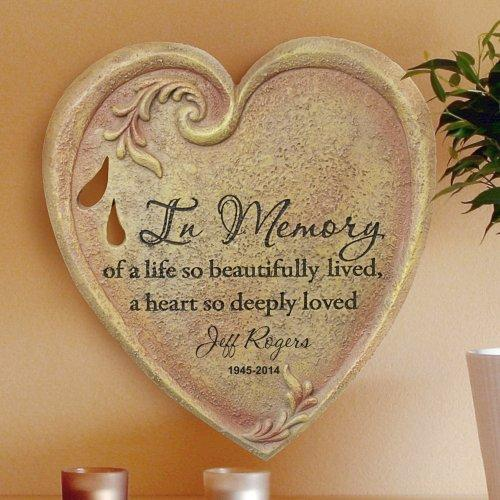 Personalized Heart Memorial Wall Stone