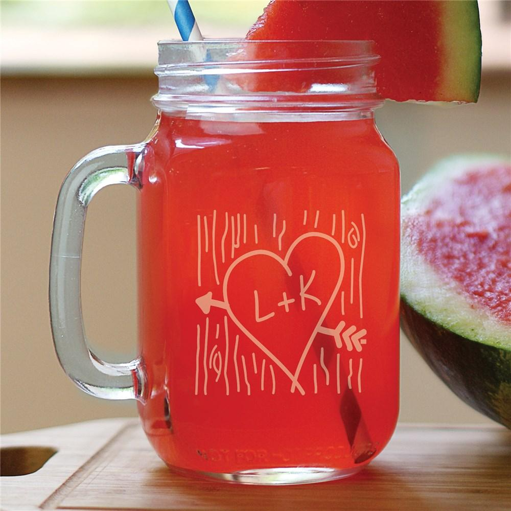 Personalized Me+U Mason Jar