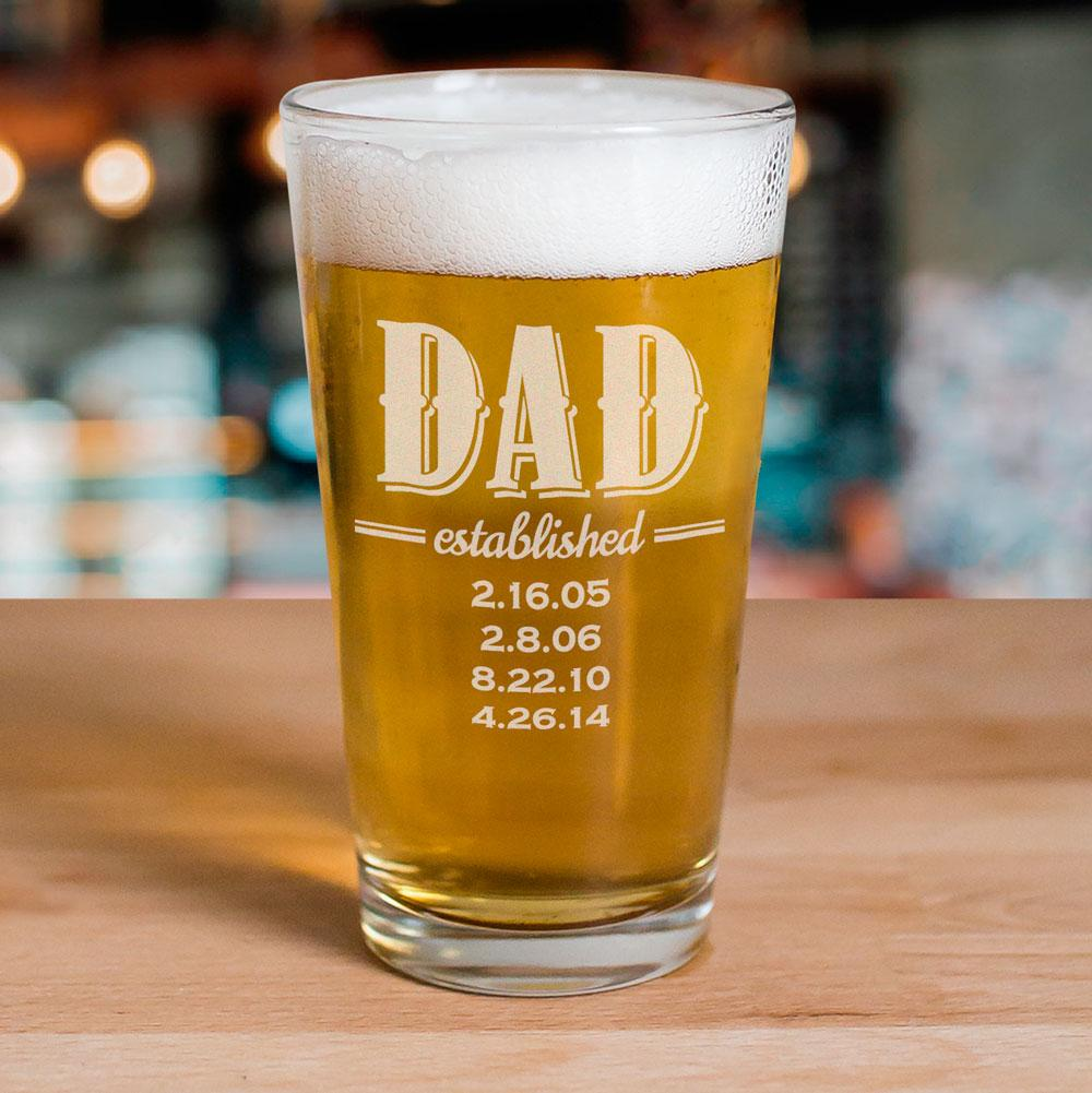 Personalized Dad Glass