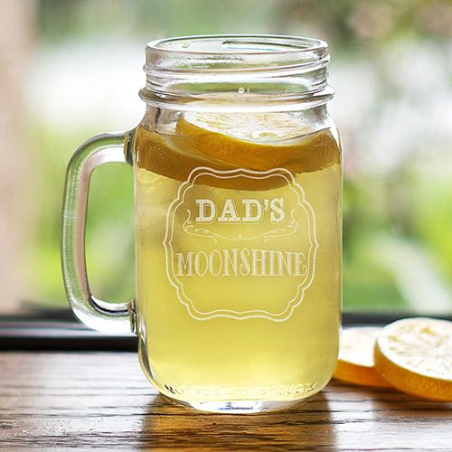 Personalized Engraved Moonshine Mason Jar