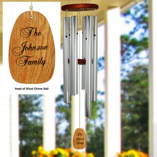 Personalized Wood Sail Wind Chime