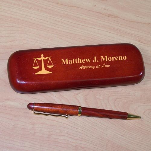Personalized Lawyer Rosewood Pen Set