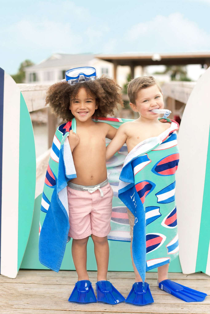 Personalized Kids Beach Towel for Girls & Boys