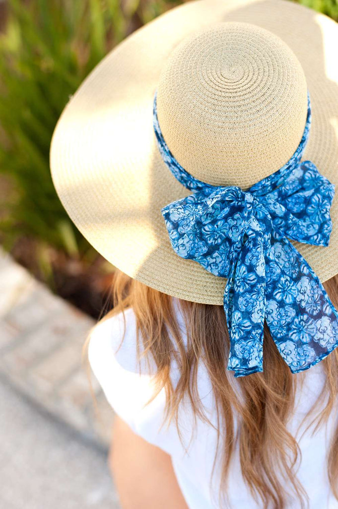 Summer Accent Scarf - Floral Maliblue