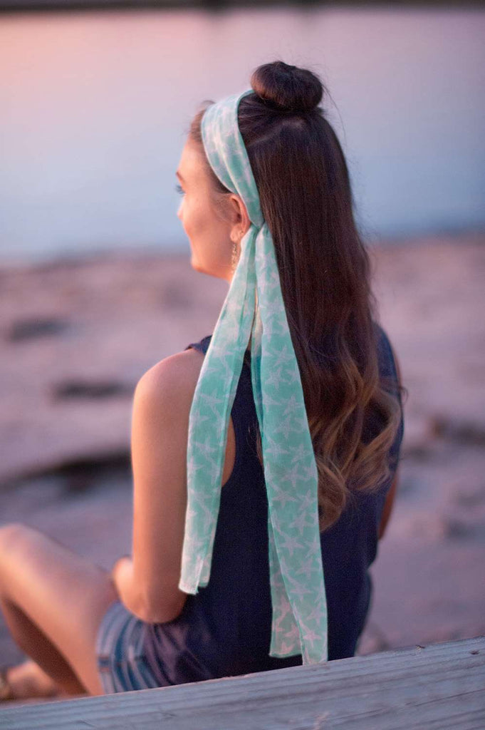 Summer Accent Scarf - Starfish