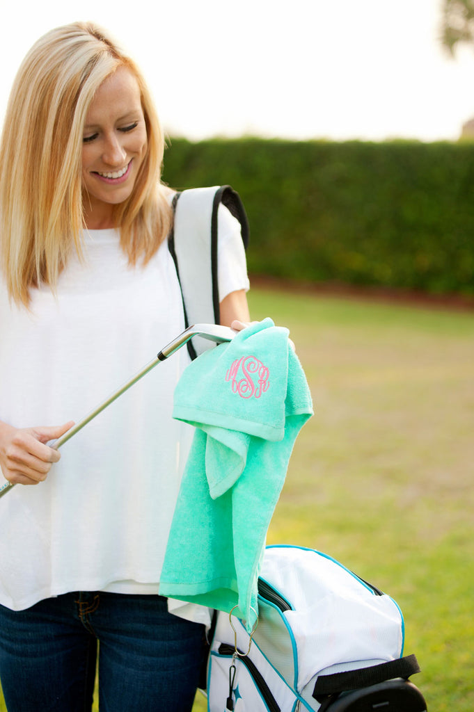 Personalized Monogram Golf Towel