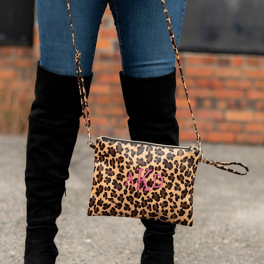 Personalized Leopard Crossbody Purse