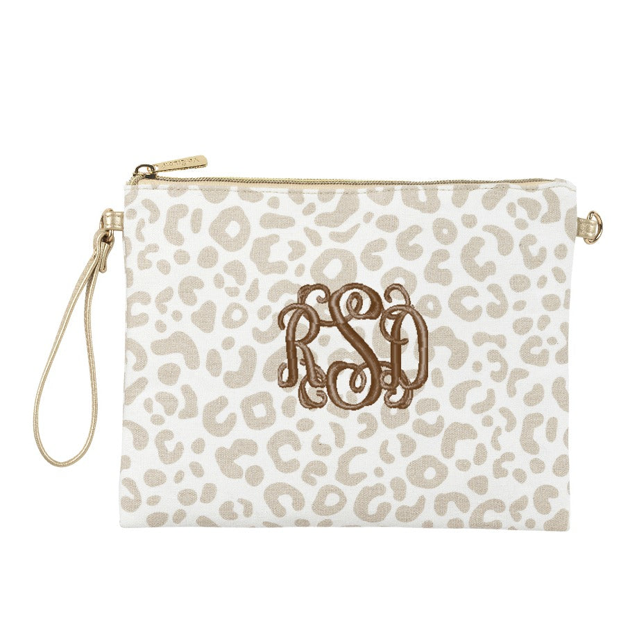 Personalized Natural Leopard Crossbody Purse