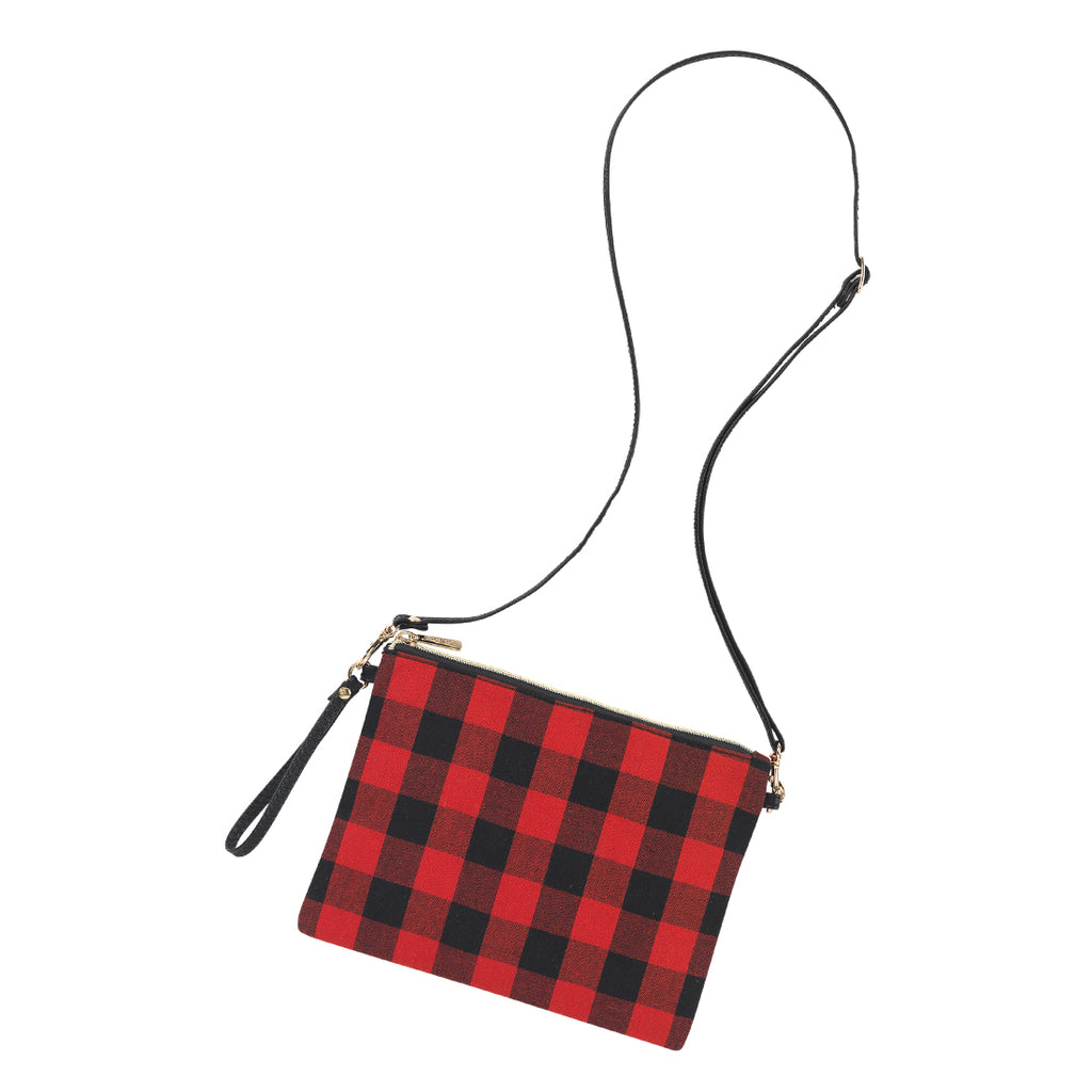 Personalized Red Buffalo Check Crossbody Purse