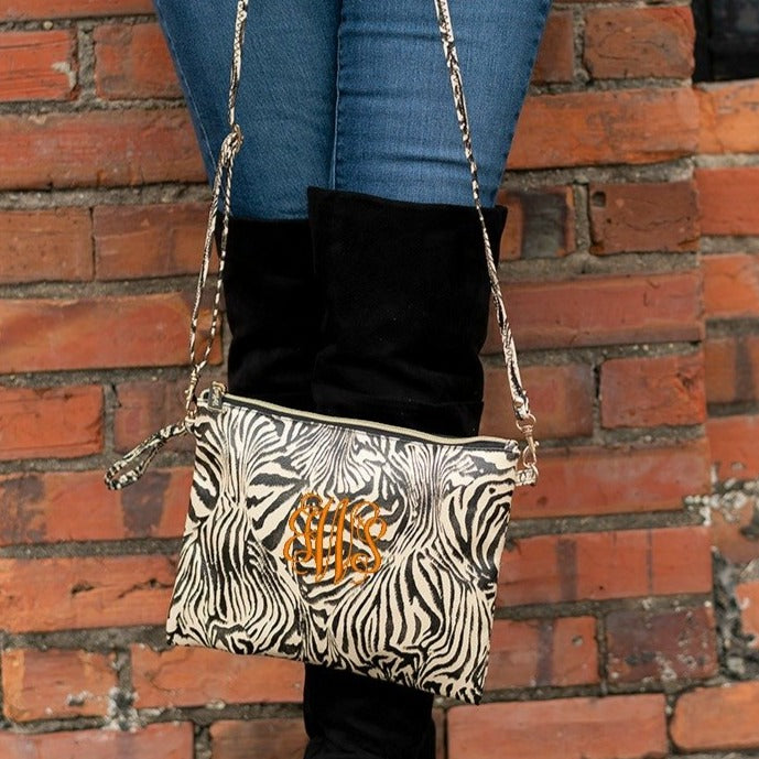 Personalized Zebra Crossbody Purse