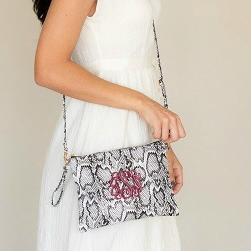 Personalized Snakeskin Crossbody Purse