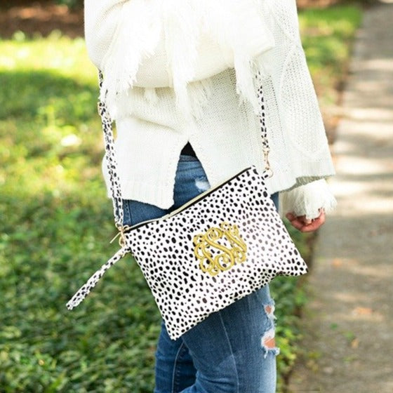 Personalized Spotted Crossbody Purse