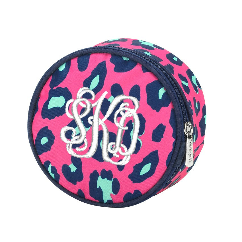 Personalized Jewelry Case - Hot Pink Leopard