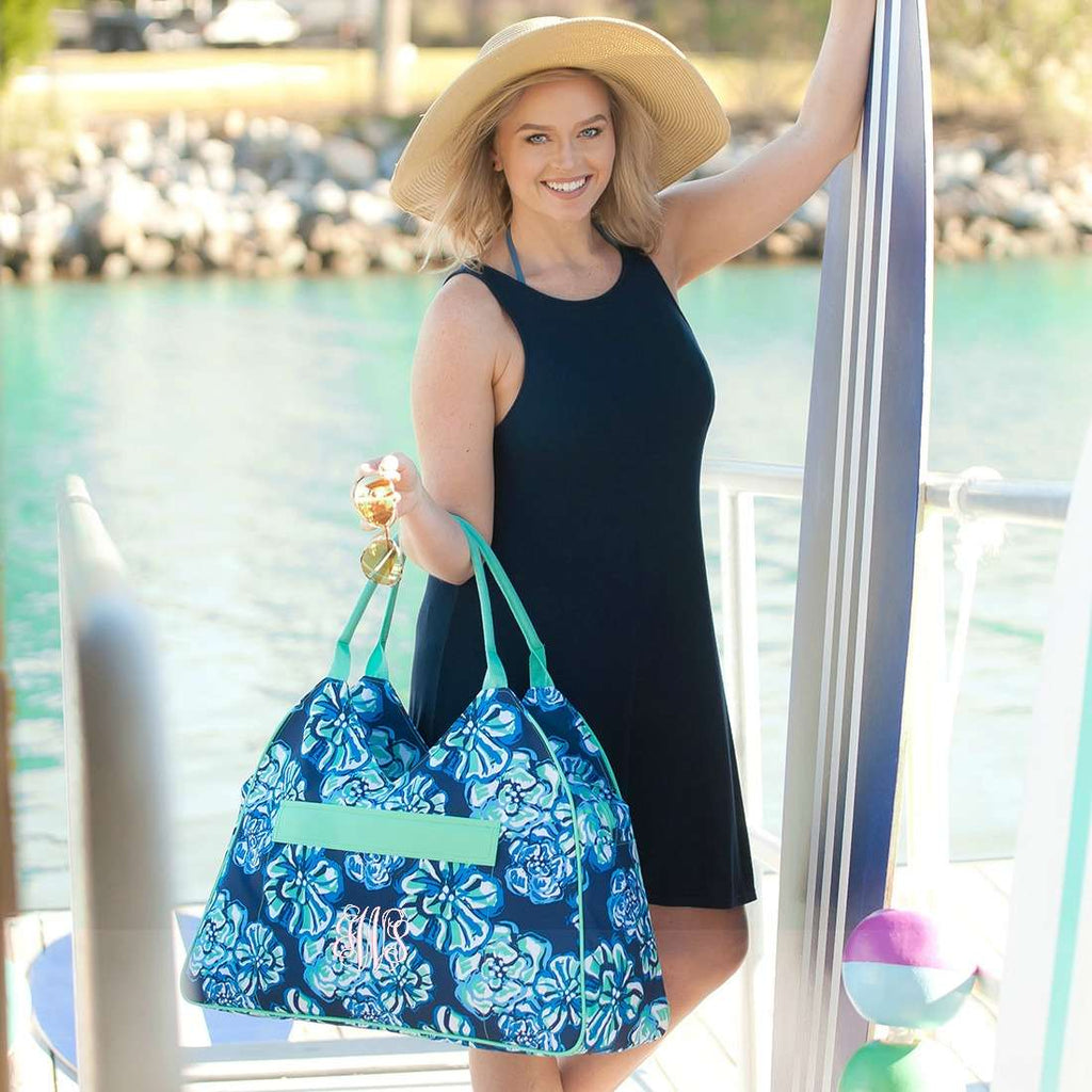 Beach Bound Gift Set - Monogrammed Beach Bag & Wet Pouch