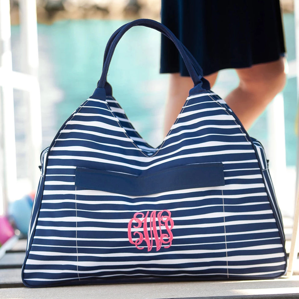 Personalized Large Beach Bag - Oversized Pool Tote - Tide Navy