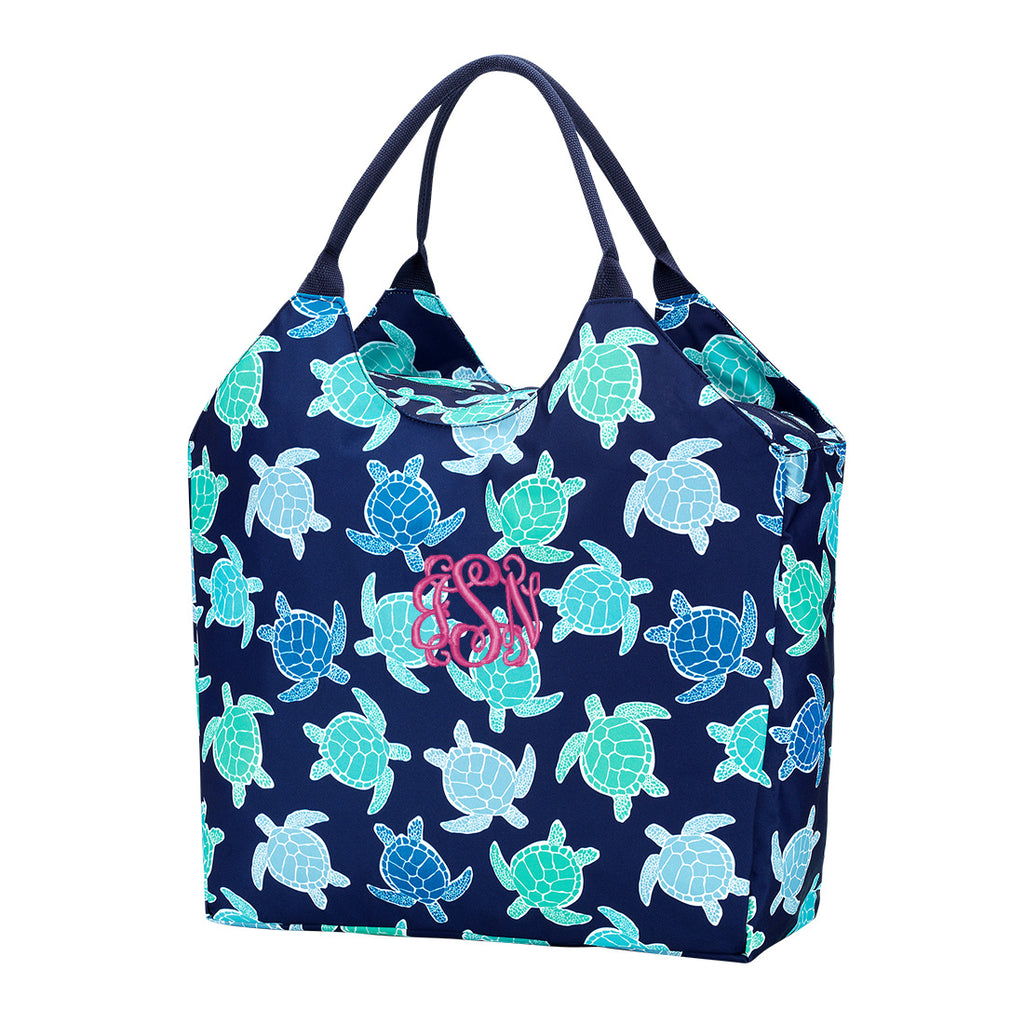 Personalized Large Beach Bag - Oversized Pool Tote - Sea Turtle