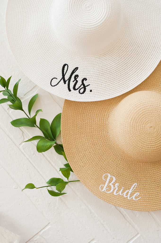 Natural White Bride Floppy Hat